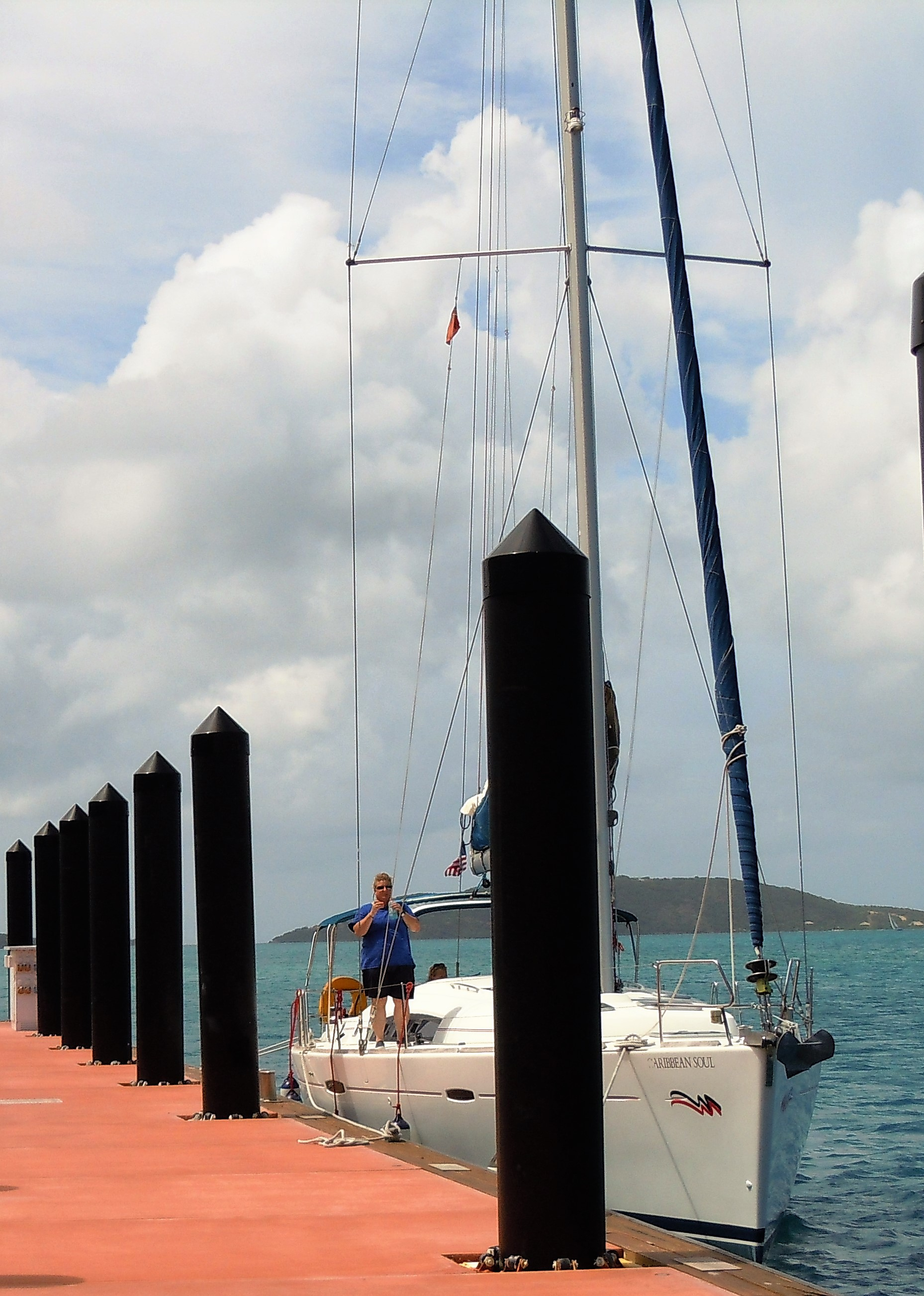 Docking practice sailing school BVI
