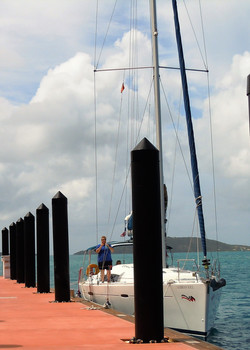 Docking practice sailing school BVI