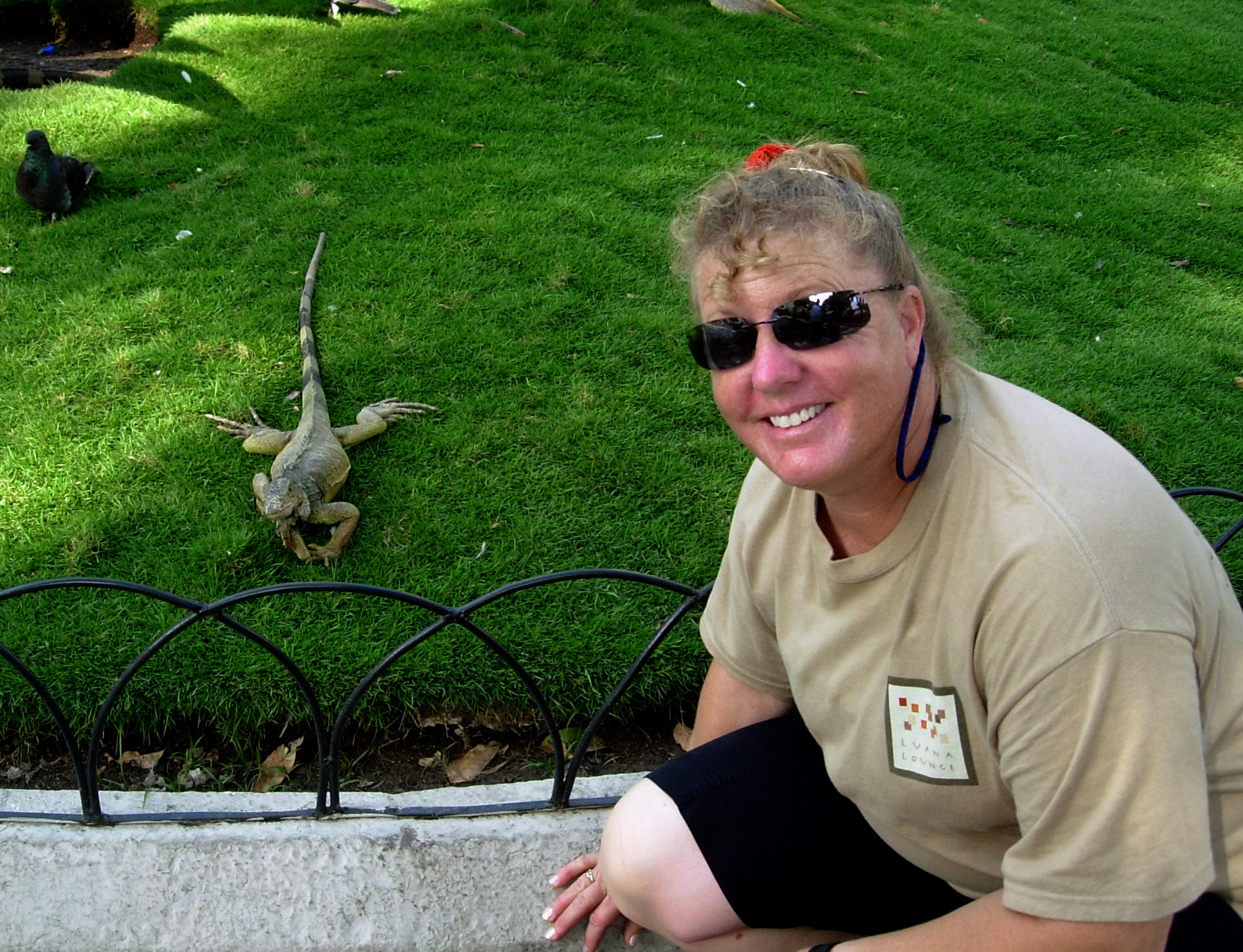 Lynn at Iguana Park in Guayaquil