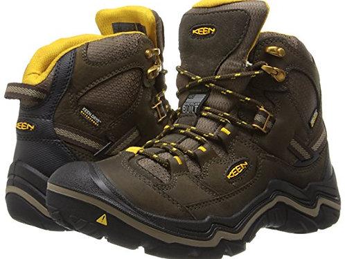 KEEN Women's Durand Mid Waterproof Hiking Boot,Chocolate Brown/Tawny Olive,7 M U