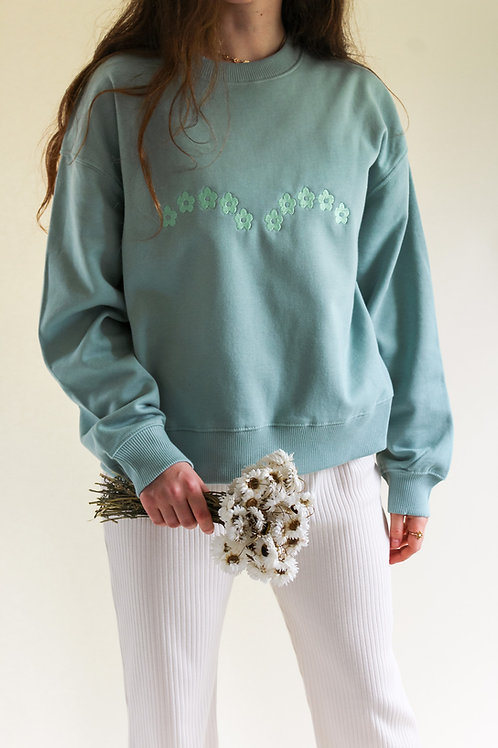 Daisy Arch Organic Light Sage Thick Jumper by Nude Ethics
