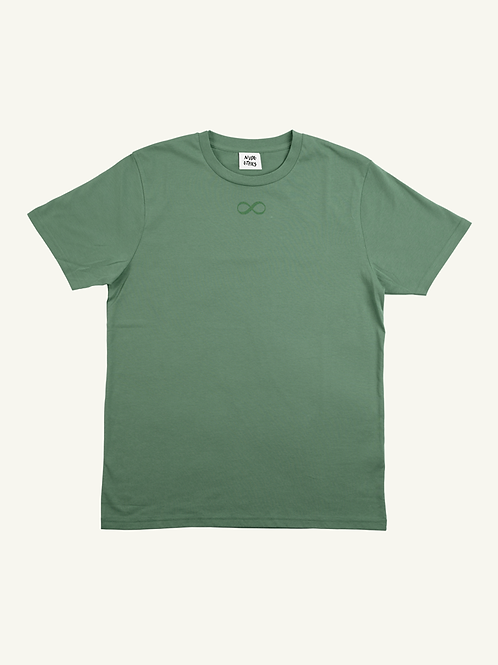 SAMPLE Infinity Organic Sage Green T Shirt by Nude Ethics - SMALL