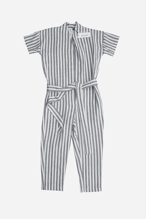 Striped Linen Jumpsuit by OffOn