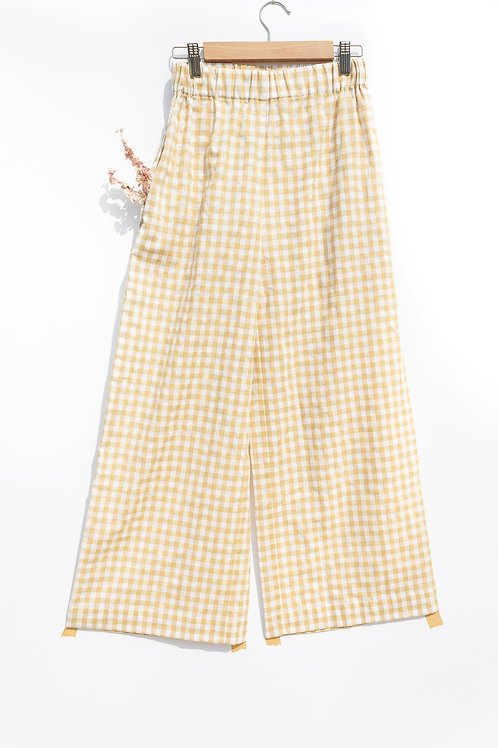 Checkered Wide Leg Culottes by OffOn