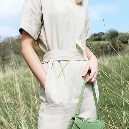 These are the best ethical materials - natural linen jumpsuit sold by Nude Ethics