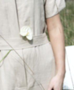 Nude Ethics ethical and ecological clothing collection - image of beige linen