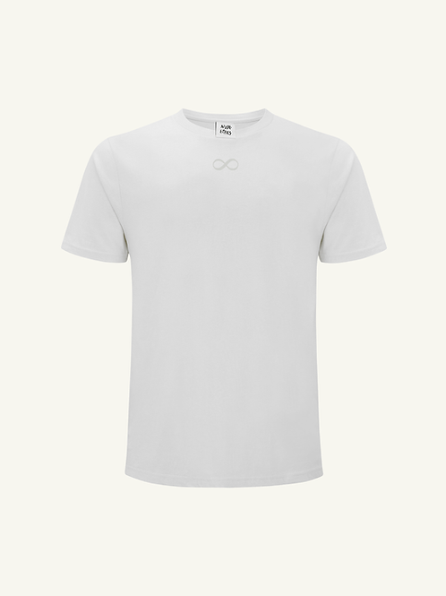 Infinity Organic White T Shirt by Nude Ethics
