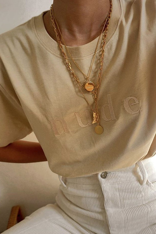 Sand Nude Organic T Shirt by Nude Ethics