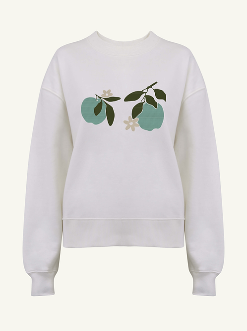 SAMPLE Apple Bloom Organic Off-White Thick Jumper by Nude Ethics - SMALL