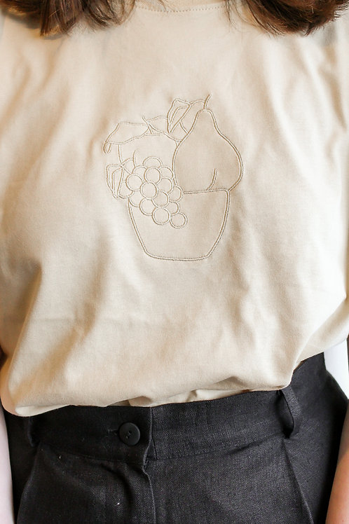 Fruit Bowl Organic Sand T Shirt by Nude Ethics