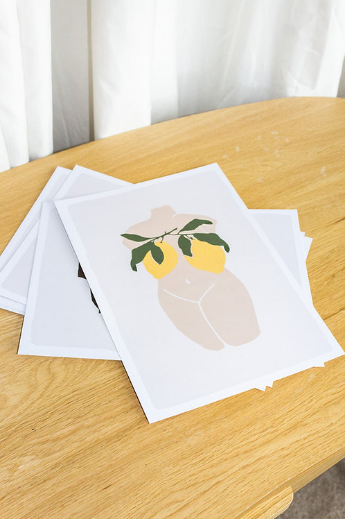 Lemon Nude No.2 - Digital Print by Nude Ethics