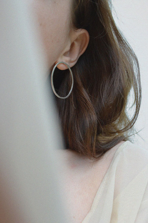 The Serpent's Egg Recycled Silver Earrings by A R C A