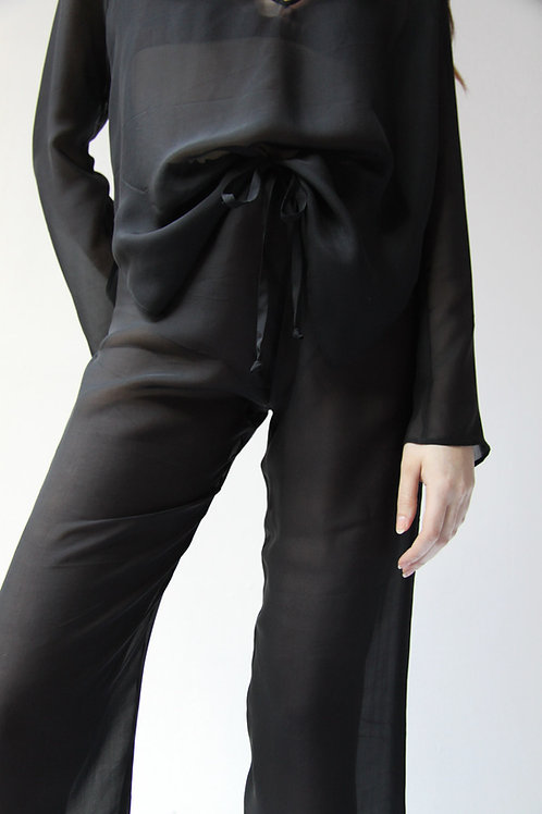 Erin Silk Trousers by Daily Nue - XSmall