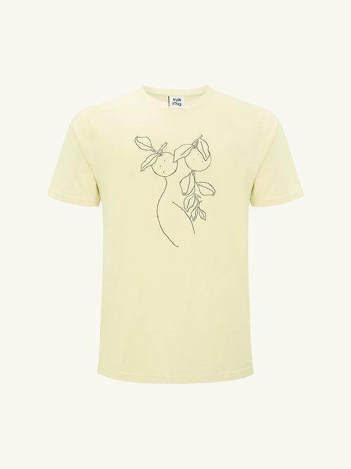 Orange Nude Organic Yellow T Shirt  by Nude Ethics