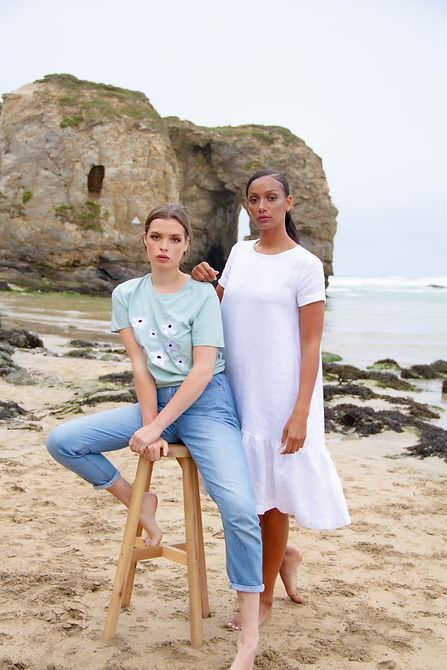Ethical photoshoot, styling a shoot for an eco natural look