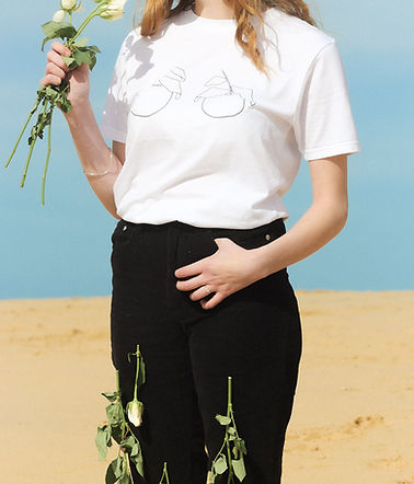 These are the best ethical materials -  Black Organic Cotton T Shirt sold by Nude Ethics