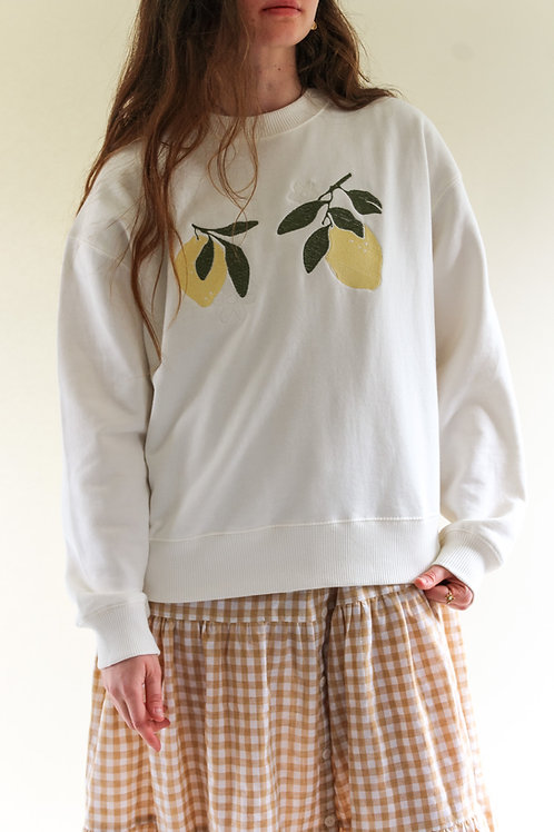 Lemon Bloom Organic Off-White Thick Jumper by Nude Ethics