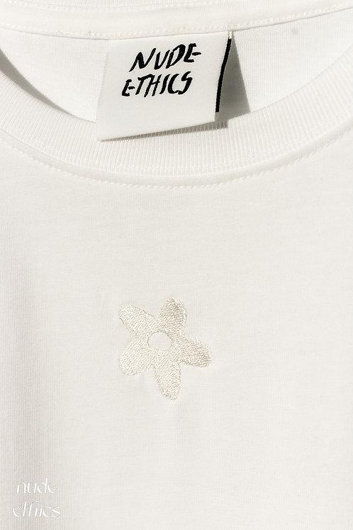 Mini Daisy Organic White T Shirt by Nude Ethics