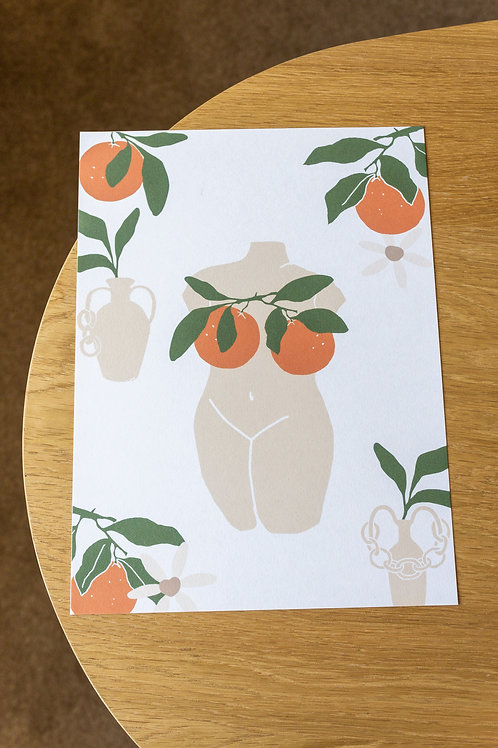 Oranges and Vases - Digital Print by Nude Ethics - 1 of 1