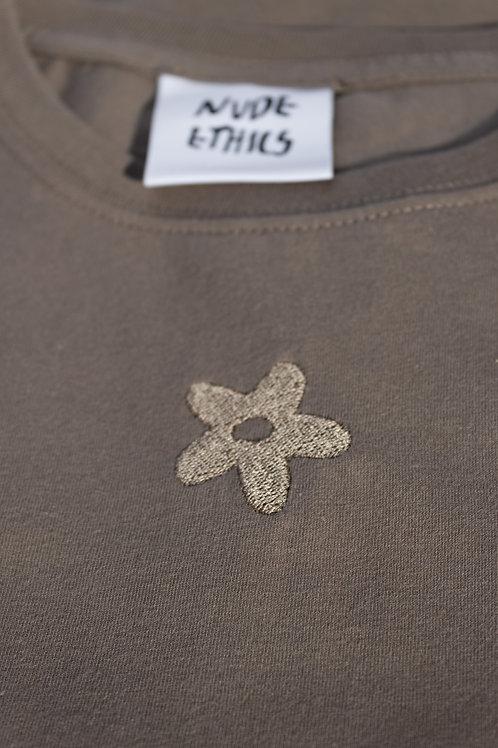 SAMPLE Mini Daisy Organic Walnut T Shirt by Nude Ethics - SMALL
