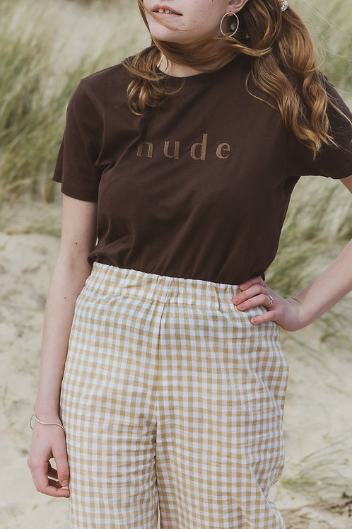 Brown Nude Organic T Shirt by Nude Ethics