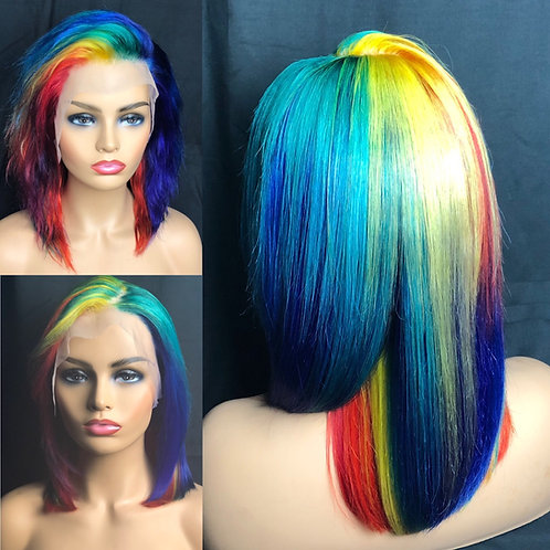 What's your Fantasy Rainbow Color Lace Frontal Wig