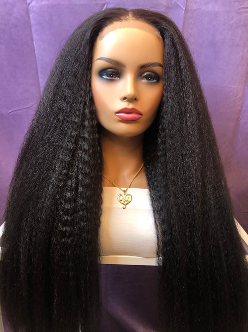Kinky Ragae Straight natural lace wig