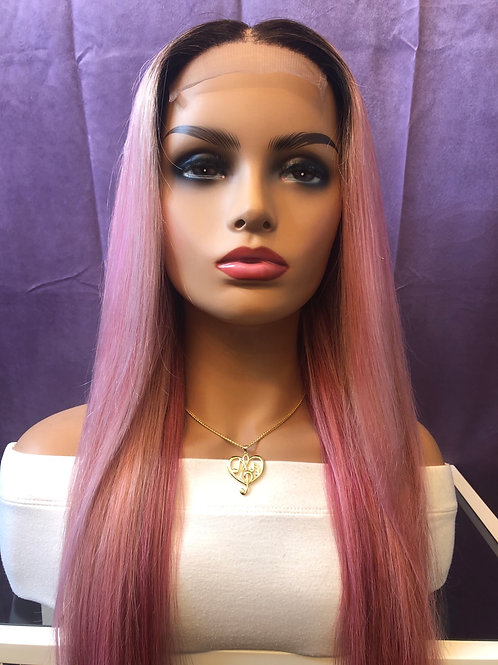 Pink Cookies Lace Closure Wig