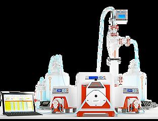 Système filtration échelle production avec fibres creuses