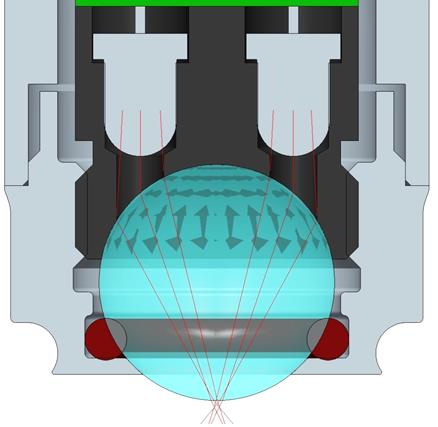Capteur en rétrodiffusion à la fenêtre concave