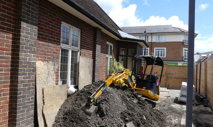 Soil removal for new entrance