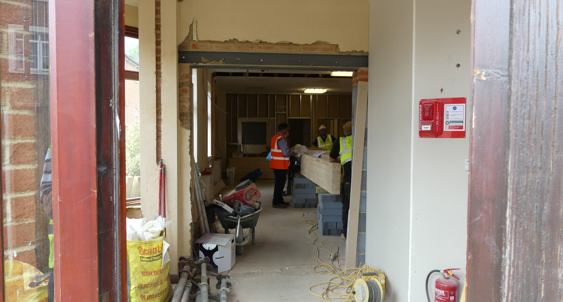 New doorway into the hall