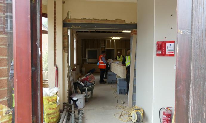 New doorway into the hall