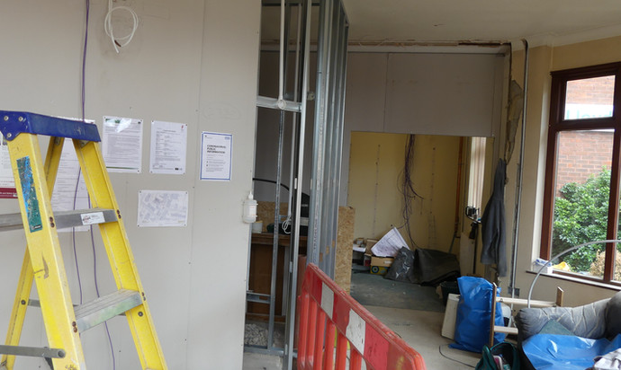 Alterations to the foyer
