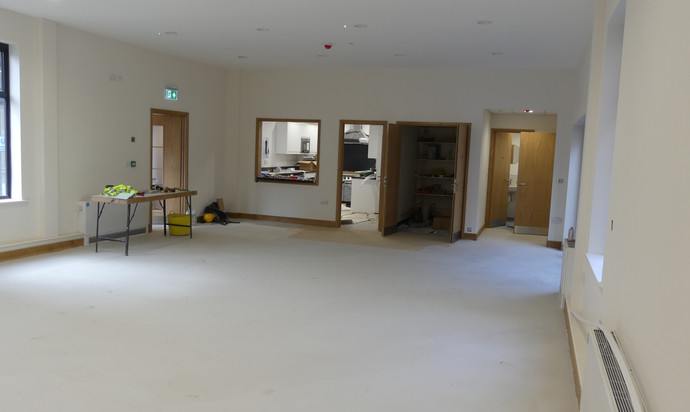 The Hub looking towards the kitchen and toilets at the rear