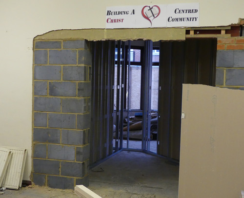 This will be a storage room for the new hall.
