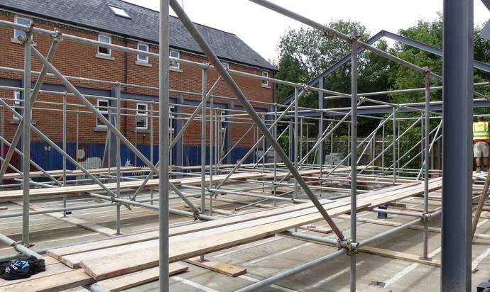 Scaffolding with block & beam floor