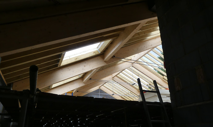 Skylights in the new roof