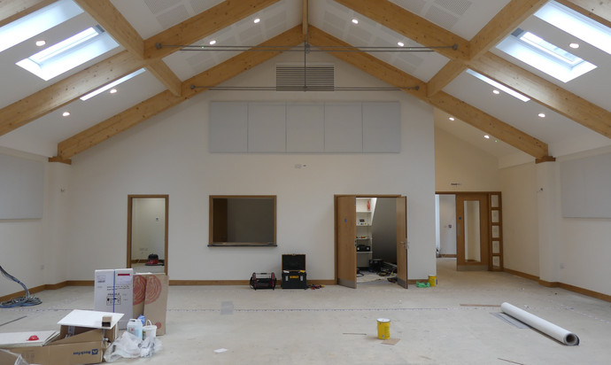 The Heart - looking towards the entrance (right) refreshment hatch and meeting room (left)