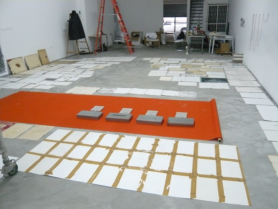 installation view, ToM stage III, White
