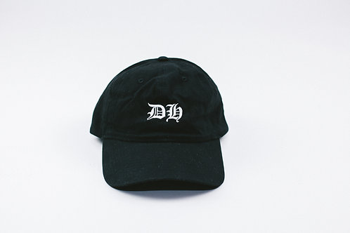 """DH"" Black Dad Hat"