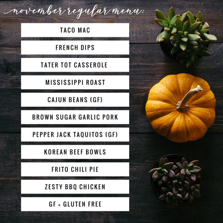 Regular Menu - November 2019