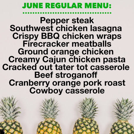 Regular Menu - June 2019