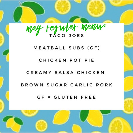 Regular Menu - May 2020