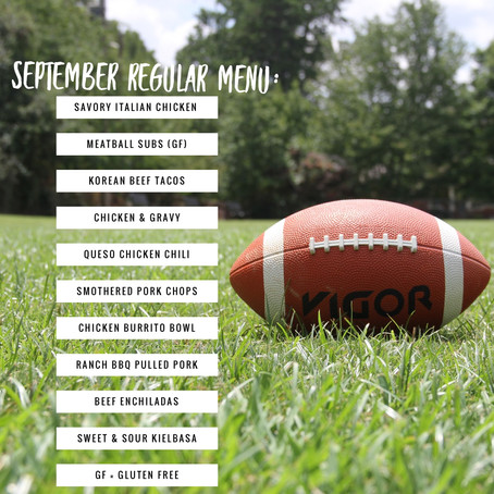 Regular Menu - September 2019