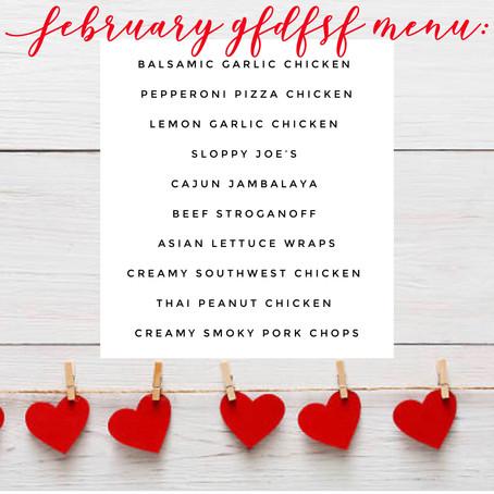 GFDFSF Menu - February 2019