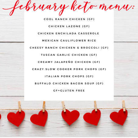 KETO Menu - February 2019