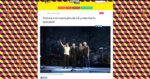 U2 tour for Sopitas.com
