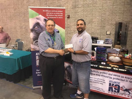 Langley Kennel Club donated $500 to the Atlantic K9 Vest Fund Memorial Day 2017