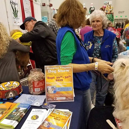 LKC Members conducting public education during the Annual World of Pets Expo at the Hampton Roads Convention Center 2019